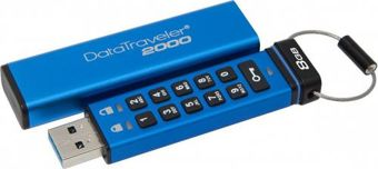 Kingston DataTraveler 2000, 8GB, AES Encryption, USB 3.0