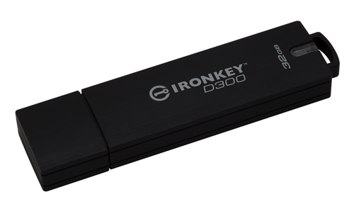Kingston Technology IronKey D300 32GB USB 3.0 FIPS 140-2 Level 3 AES 256-bit
