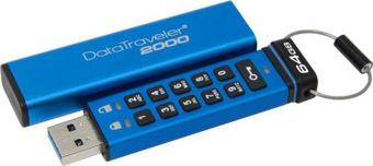 Kingston DataTraveler 2000, 64GB, AES Encryption, USB 3.0