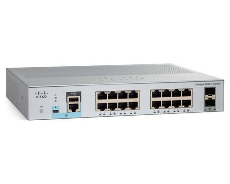 Cisco Catalyst 2960-L-16TS-LL 16 10/100/1000 + 2 SFP LAN Lite