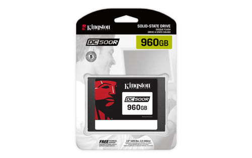 "Kingston Technology DC500R Data Center SSD 960GB SATA 3.0 2.5"" 555/525MB/s Read-Centric"